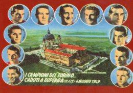 [DC0316] CARTOLINEA - A RICORDO DEL GLORIOSO TORINO - 1949/1999 - I CAMPIONI DEL TORINO CADUTI A SUPERGA (mt.672) - Calcio