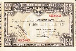 25 PTS  BILBAO  1937 - 25 Pesetas