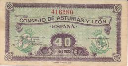 40 CTS ASTURIAS Y LEON 1936 - [ 3] 1936-1975 : Regency Of Franco