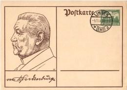 ENTIERS POSTAUX-------ALLEMAGNE-- --VON HINDENBURG----voir 2 Scans - Allemagne