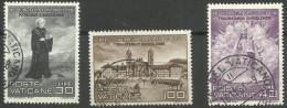 Vatican - 1961 St Meinrad Anniversary Set Of 3 Used  SG 340-2 Sc 298-300 - Oblitérés
