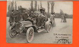 Automobile -  12 HP 4 Cylindres De Dion Bouton - S.M. Alphonse XIII Roi D'Espagne - Cartes Postales