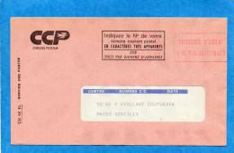 COURRIER D'ESSAI-CCP Marquage Et Flamme - Marcophilie (Lettres)