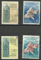 Vatican - 1961 St Patrick Anniversary Set Of 4 Used  SG 355-8 Sc 313-6 - Oblitérés