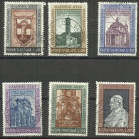 Vatican - 1961 Pope's 80th Birthday Set Of 6 Used  SG 359-64 Sc 317-22 - Oblitérés