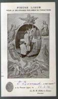 Image Pieuse Holy Card Pieuse Ligue Pour La Délivrance Des Ames Du Purgatoire Monastère De Lérins J. Bonnard 22-09-1924 - Images Religieuses