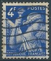 1944 FRANCIA USATO IRIS 4 F - EDF167-2 - 1939-44 Iris