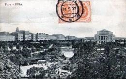 Riga - Russie Pour Gand (1907) - Lettonie