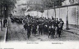 Luxembourg :  Rentrée De La Troupe - Carte Animée (vierge) - Luxembourg - Ville