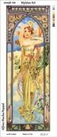 New Tapestry, Gobelin, Picture, Print, Mucha, Daytime, Woman - Creative Hobbies