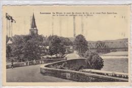Anseremme La Meuse Le Pont Du Chemin De Fer Et Le Vieux Pont Sur La Lesse Au Confluent Avec La Meuse - Dinant