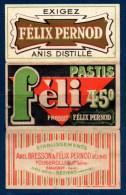 Petit Cahier à Feuilles Pour Cigarettes ? Félix Pernod. Pub. Pastis Féli 45°. Ets. Abel Bresson & Félix Pernod Réunis. - Autres Collections