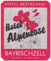 GERMANY BAYRISCHZELL HOTEL ALPENROSE VINTAGE LUGGAGE LABEL