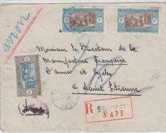 SENEGAL - 1926 - ENVELOPPE RECOMMANDEE De DIOURBEL Pour ST ETIENNE - Lettres & Documents