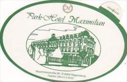 GERMANY REGENSBURG PARK HOTEL MAXIMILIAN DARK GREEN VINTAGE LUGG