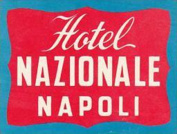 ITALY NAPOLI HOTEL NAZIONALE VINTAGE LUGGAGE LABEL