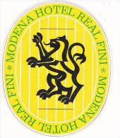 ITALY MODENA HOTEL REAL FINI VINTAGE LUGGAGE LABEL - Hotel Labels