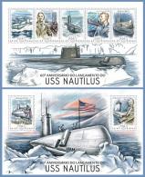 gb14206ab Guinea Bissau 2014 USS Nautilus Submarines 2 s/s