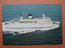 35595 PC: SHIPS: FERRIES: ST.PATRICK II, Built, Hamburgh 1973. Tonnage 7984. Passengers 1630 (812 Berths) Car Deck 300..
