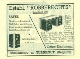 Reclame Uit 1948 - Safes - Ets. Robberechts - Turnhout - Publicités