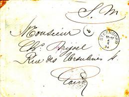 582/22 - Lettre En Franchise Militaire STEENDORP (Bureau Rare) 4 Octobre1914 - Arrivée GAND 8 Octobre - Invasion