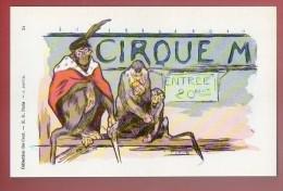 CP N° 196 - Collection Des Cent N° 34 - Par J. JOUVE (singes Au Cirque) (collection Les Chef D´œuvre De La CP Par Neudin - Singes