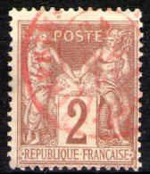 """N°85 Oblitéré """"rouge""""    - Cote 10€ -"""