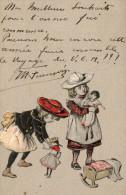 Enfants, Chapeaux, Poupées, Jouets, En Relief. - Groupes D'enfants & Familles