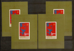1978 Jugoslavia Yugoslavia 11° CONGRESSO SCJ 4 Foglietti (BF.18) MNH** 4 Souv. Sheets - Blocchi & Foglietti