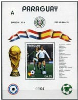 "Soccer Football Fussball Paraguay Bl 372 ""A  1982 World Cup Spain MNH ** - Coupe Du Monde"