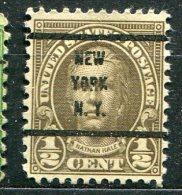 USA - Préoblitéré - Precancel - NEW-YORK - NEW-YORK - Etats-Unis