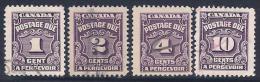 Canada, Scott # J15-6,J17,J20 Used Postage Due, 1935 - Impuestos