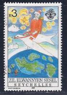 Seychelles,ZES, Scott # 152 Used Santa Riding Bird, 1988 - Seychelles (1976-...)