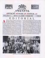 G)1994 MEXICO, AMEXFIL MAGAZINE, SPECIALIZED IN MEXICAN STAMPS, YEAR 11 VOL. 11-JAN-FEB- 1994-NUM. 64, XF - Riviste: Abbonamenti