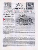 G)1994 MEXICO, AMEXFIL MAGAZINE, SPECIALIZED IN MEXICAN STAMPS, YEAR 12 VOL. 12-JUL-AUG- 1994-NUM. 67, XF - Riviste: Abbonamenti