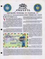 G)1995 MEXICO, AMEXFIL MAGAZINE, SPECIALIZED IN MEXICAN STAMPS, YEAR 12 VOL. 12-JAN-FEB- 1995-NUM. 70, XF - Riviste: Abbonamenti