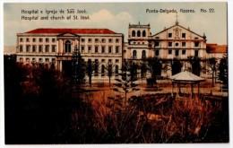 Azores, Ponta-Delgada, Hospital And Church, ± 1910 - Açores