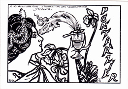 CPSM PONTARLIER Absinthe Art Nouveau Tirage Limité Illustrateur - Other