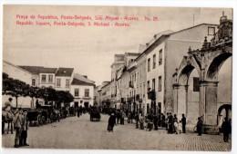 Azores, Ponta-Delgada, Lively Street Scene, Parade, ± 1910 - Açores