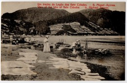 Azores, Women Washing Clothes At Lake, Early 1900's - Açores