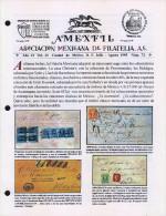 G)1995 MEXICO, AMEXFIL MAGAZINE, SPECIALIZED IN MEXICAN STAMPS, YEAR 13 VOL. 13-JUL-AUG- 1995-NUM. 73, XF - Riviste: Abbonamenti