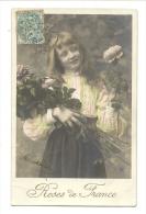 Cp, Fleurs, Roses De France, Voyagée 1905 - Fleurs, Plantes & Arbres