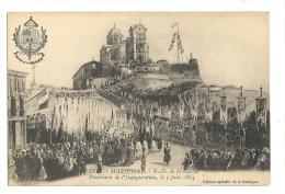 Cp, 13, Marseille, Notre Dame De La Garde, Procession De L'Inauguration, Le 5 Juin 1864, écrite - Notre-Dame De La Garde, Funicolare E Vergine