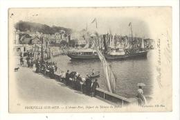 Cp, 14, Trouville-sur-Mer, L´avant-Port, Départ Départ Du Batau Du Havre, Voyagée 1904 - Trouville