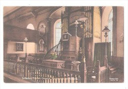 Newburgh On Ythan Church Interior Nr Ellon Raphael Tuck Postcard Good Newburgh ABERDEENSHIRE CIRCULAR POSTMARK 1944 - Aberdeenshire
