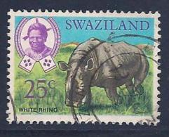 Swaziland, Scott # 171 Used White Rhino, 1969 - Swaziland (1968-...)