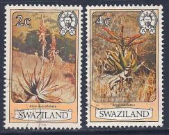 Swaziland, Scott # 347a,349a Used Flowers, 1983 - Swaziland (1968-...)