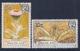 Swaziland, Scott # 350a,353a Used Flowers, 1983 - Swaziland (1968-...)