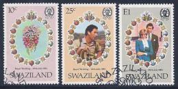 Swaziland, Scott # 382-4 Used Royal Wedding, 1981 - Swaziland (1968-...)