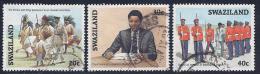 Swaziland, Scott # 496,498-9 Used Crown Prince Coronation, 1986 - Swaziland (1968-...)